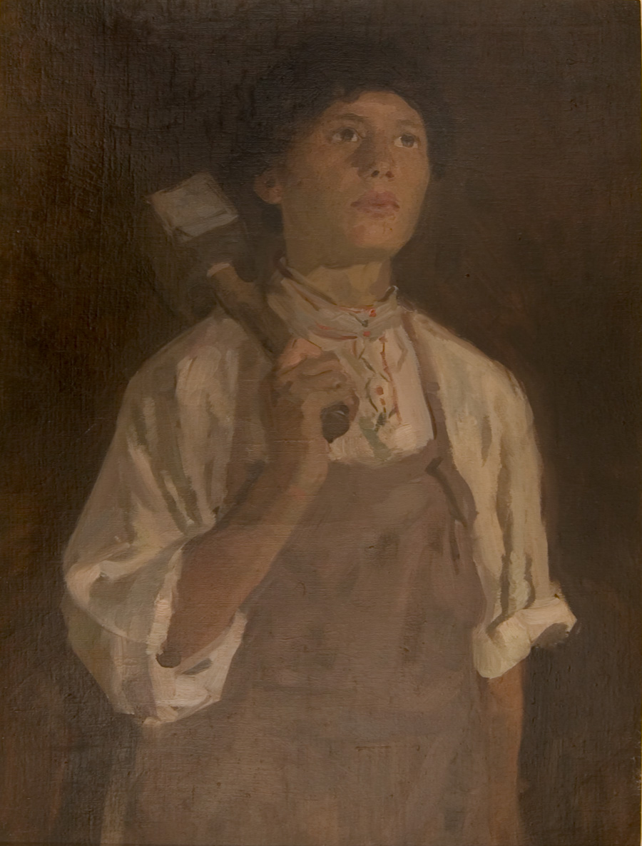 Russian Realism painting Young Miner - Aleksandr Gerasimov