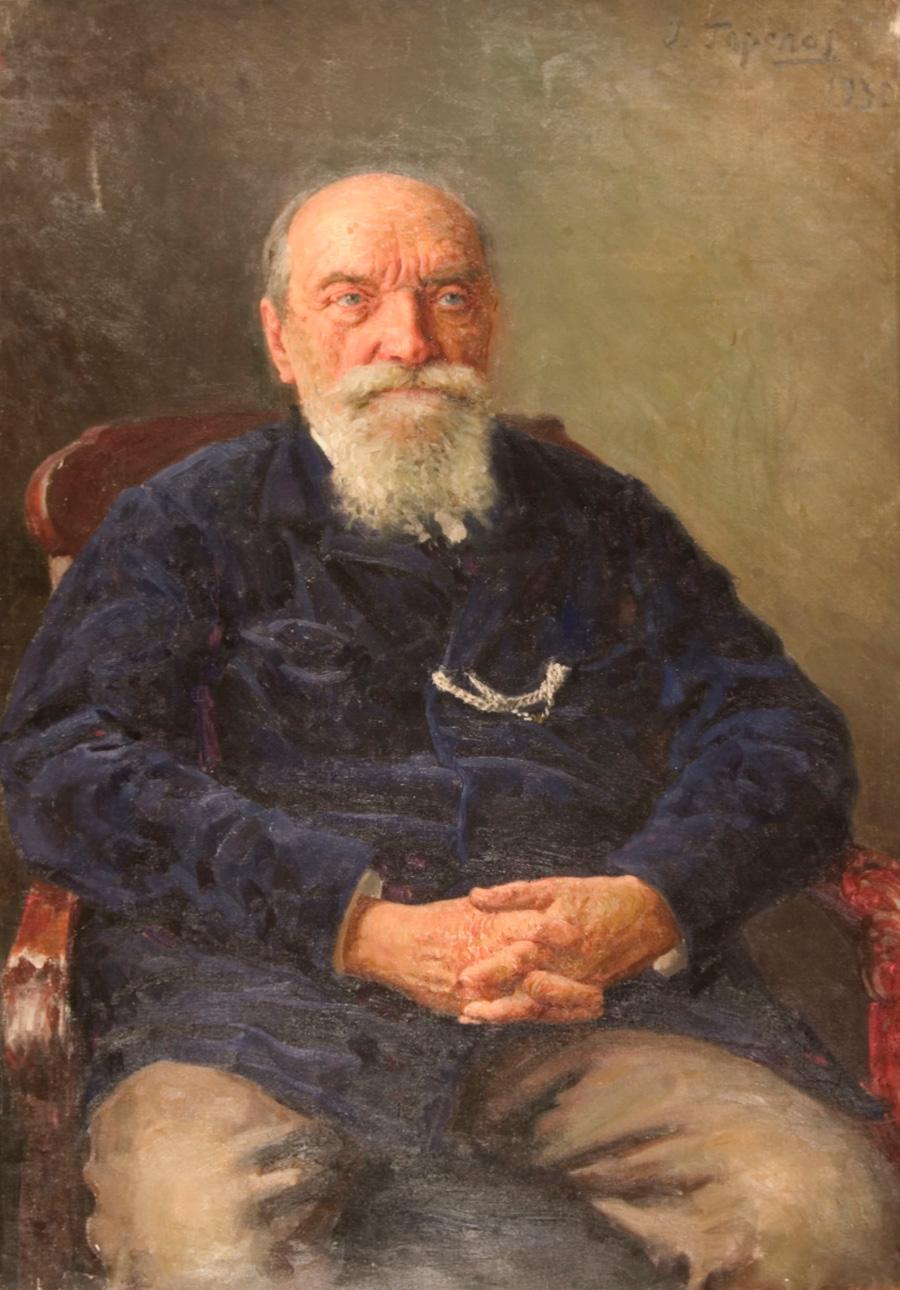 Portrait of Doctor Pavlov - Gavril Gorelov art gallery richmond va