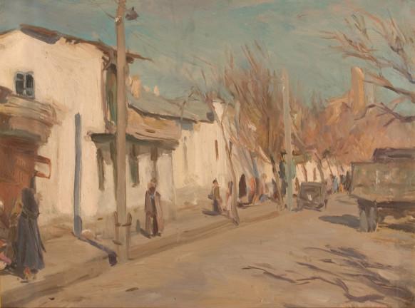 20th century russian painting Samarkand - Sergei Vasilievich Gerasimov