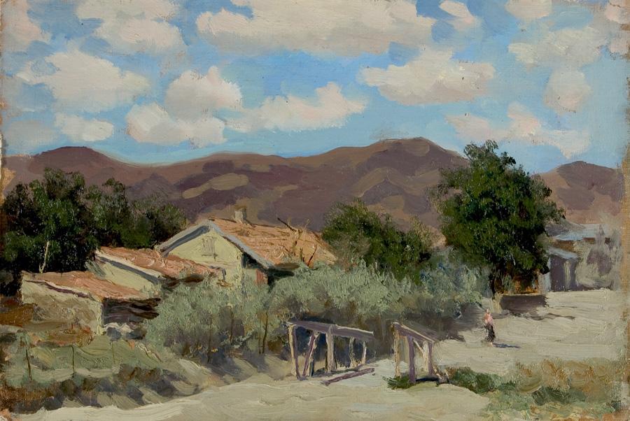 Russian art for sale Village - Mikhail V. Kupriyanov