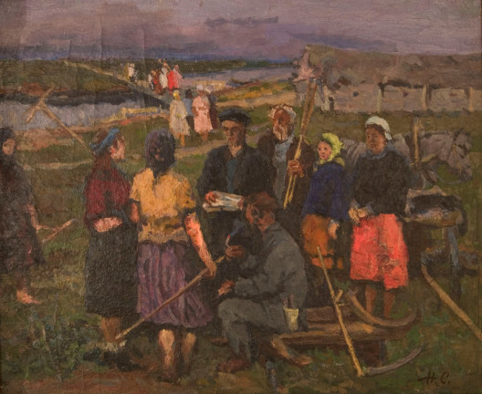 After Work - Nikoli Sergeyev Sergeevich 20th century russian painting
