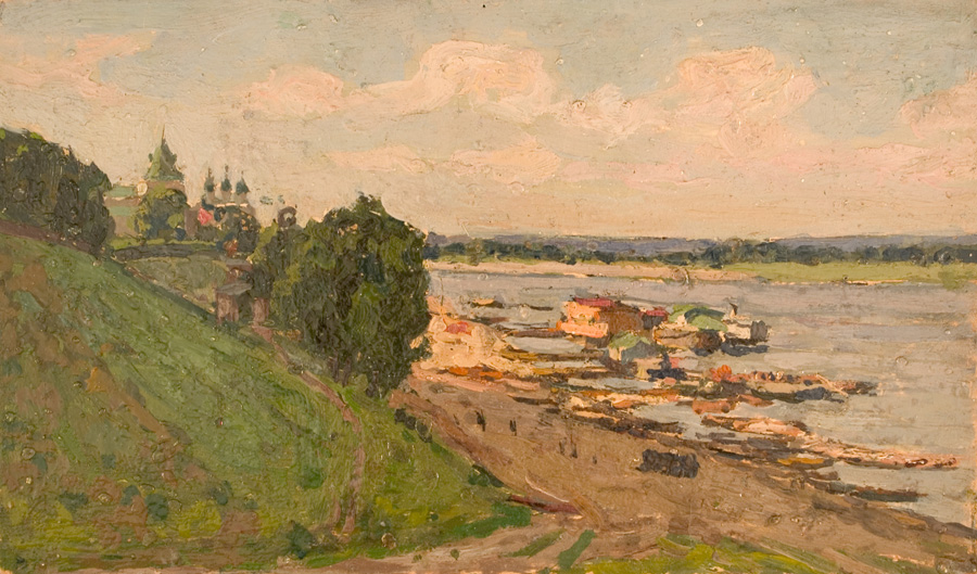 On the Volga River, Near Yaroslavl - Petr Ivanovich Petrovichev buy Russian art